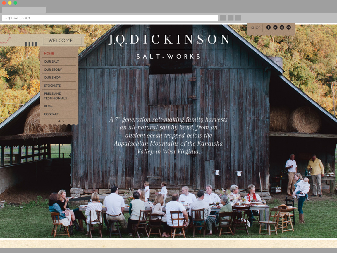JQD Salt Website Design