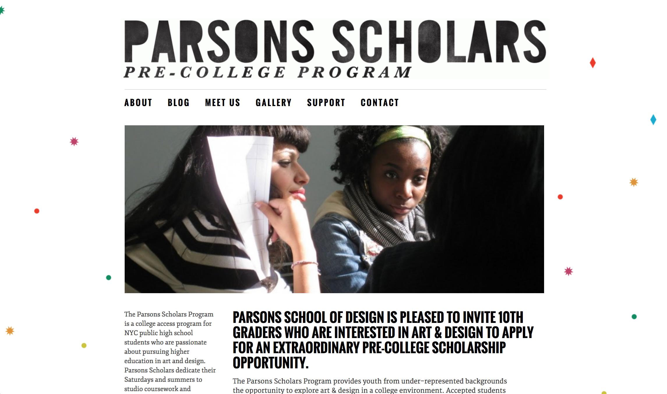Parsons Scholars website