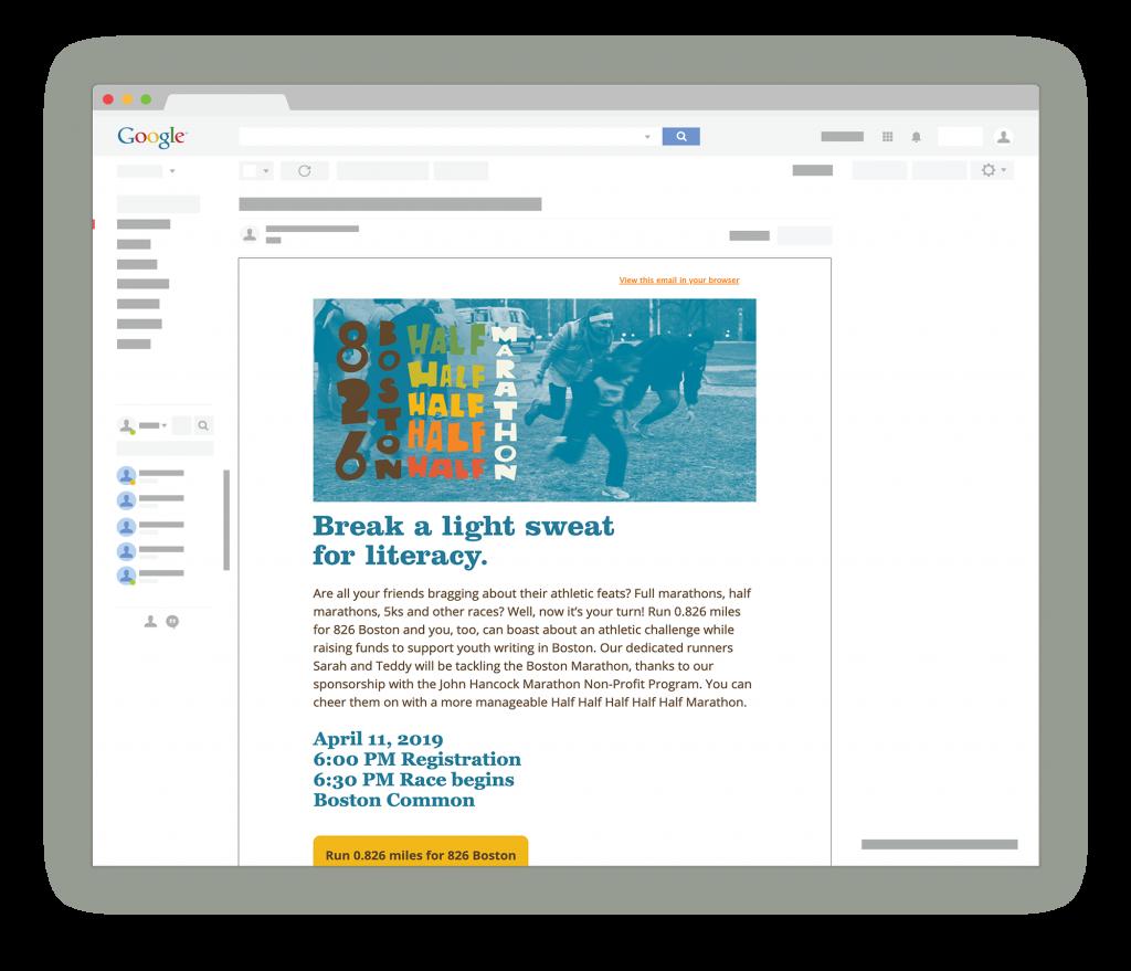 826 Marathon Email Campaign design